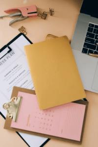 files on a desk
