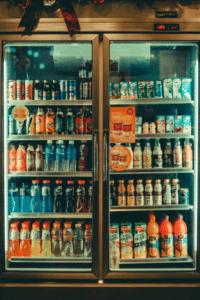 drinks in a fridge